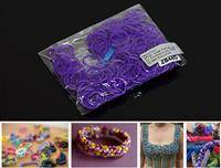 ZB44D LOOM BANDS 200 PC BAG PURPLE