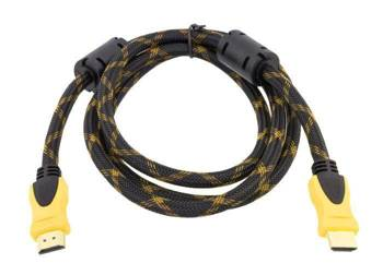 HD32 KABEL HDMI-HDMI 1.3 3D GOLD 1,5M OPLOT