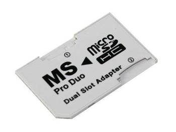 PSP22 ADAPTER DUAL MICRO SD / MS PRO DUO BIAŁY