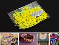ZB44C LOOM BANDS 200 PC BAG YELLOW
