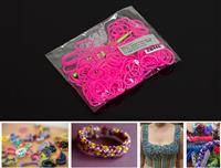 ZB44E LOOM BANDS 200 PC BAG PINK